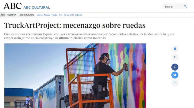 mecenazgo español-Truck art project