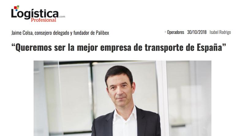 Jaime Colsa-Palibex-mejor empresa de transporte-Logística Profesional