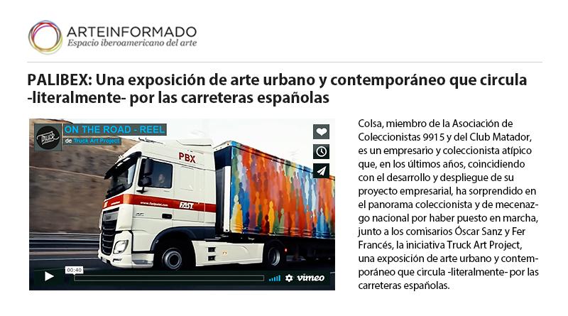 Arte Informado - Arteinformado - Truck Art Project - Palibex