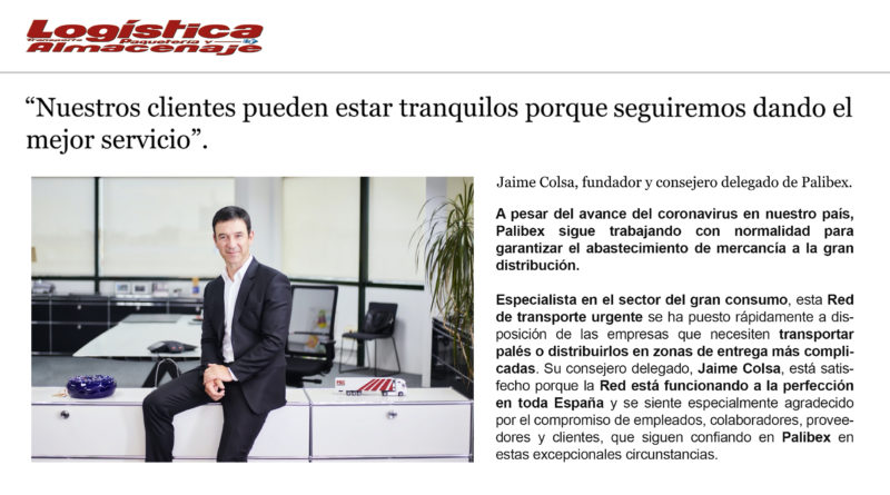 Blog Jaime Colsa - Logística y Transporte Coronavirus