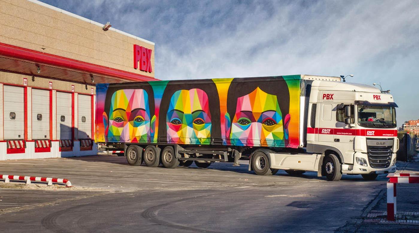 palibex - solo camion - truck art project - okuda